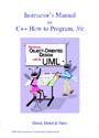 How to Program C++ – Instructor's Manual – Deitel [PDF]