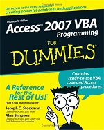 Access 2007 VBA Programming for Dummies – Joshep C. Stockman, Alan Simpson [PDF] [English]