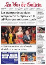 La Voz de Galicia + Suplementos – 25 Septiembre, 2015 [PDF]