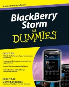 BlackBerry Storm for Dummies – Robert Kao, Dante Sarigumba [PDF] [English]