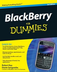 BlackBerry for Dummies (3rd Edition) – Robert Kao, Dante Sarigumba [PDF] [English]