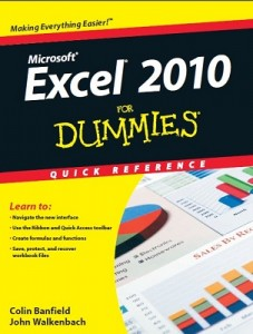 Excel 2010 for Dummies Quick Reference – Colin Banfield, John Walkenbach [PDF] [English]