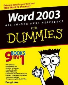 Word 2003 All-in-One Desk Reference for Dummies – Doug Lowe [PDF] [English]