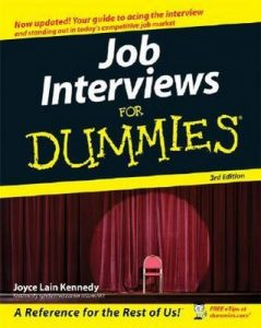 Job Interviews for Dummies (3rd Edition) – Joyce Lain Kennedy [PDF] [English]