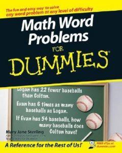 Math Word Problems for Dummies – Mary Jane Sterling [PDF] [English]