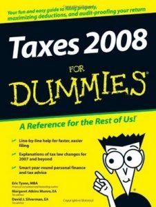 Taxes 2008 for Dummies – Eric Tyson, Margaret Atkins Munro, David J. Silverman [PDF] [English]