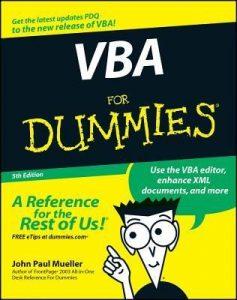 VBA for Dummies (5th Edition) – John Paul Mueller [PDF] [English]