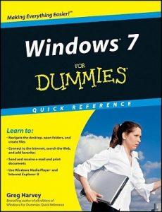 Windows 7 for Dummies Quick Reference – Greg Harvey [PDF] [English]