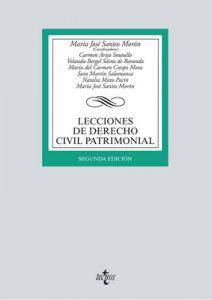Lecciones De Derecho Civil Patrimonial (Derecho – Biblioteca Universitaria De Editorial Tecnos) – María José Santos Morón, Carmen Arija Soutullo [ePub & Kindle]