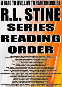 R.L. STINE: SERIES READING ORDER: A READ TO LIVE, LIVE TO READ CHECKLIST [Goosebumps Series Fear Street Cheerleaders Series Give Yourself Goosebumps Series Fear Street Saga Series] – Rita Bookman [ePub & Kindle] [English]