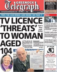 Greenock Telegraph – November 25, 2017 [PDF]