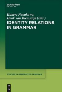 Identity Relations in Grammar (Studies in Generative Grammar [SGG]) – Kuniya Nasukawa, Henk Riemsdijk [PDF] [English]