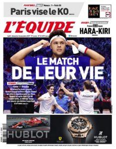 L'Equipe Du Dimanche 26 Novembre, 2017 [PDF]