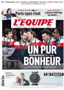 L'Equipe Du Lundi 27 Novembre, 2017 [PDF]