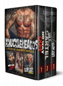 The Knuckleheads 3-Book MC Motorcycle Club Romance Bundle: No Way Out / Sold to the Cartel / Beauty and the Biker Boss – Simone Scarlet MMA [ePub & Kindle] [English]