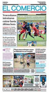 El Comercio Ecuador – Agosto 26, 2019 [PDF]