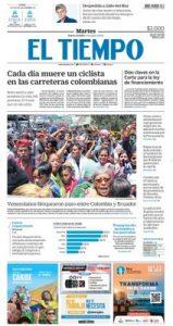 El Tiempo Colombia – Agosto 27, 2019 [PDF]