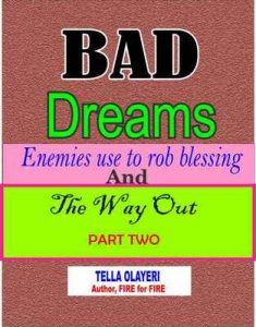 Bad Dreams Enemies use to rob blessings and the way out part two – Tella Olayeri [ePub & Kindle] [English]